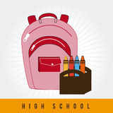 Back to school design over white background vector illustration. Back to school design over white background, vector illustration stock illustration