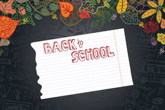 Back to school design template Royalty Free Stock Photo