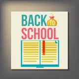 Back to school design template Royalty Free Stock Images