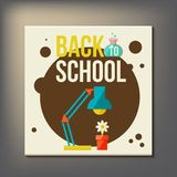 Back to school design template Royalty Free Stock Photos