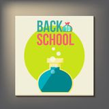 Back to school design template Stock Image