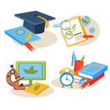 Back to school design template Royalty Free Stock Image