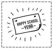 Back to school design typographic quotes Royalty Free Stock Photos