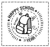 Back to school design typographic quotes Stock Images