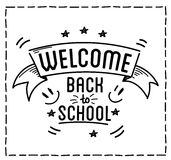 Back to school design typographic quotes Stock Image