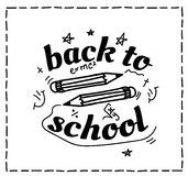 Back to school design typographic quotes Royalty Free Stock Images