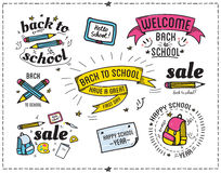 Back to school design typographic quotes Stock Image