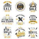 Back to School design. Vector illustration. Back to School design. For advertising, promotion, poster, flier, blog, article, social media, marketing or banner Royalty Free Stock Photography