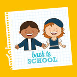 Back to school. Design, vector illustration eps10 graphic Stock Photos