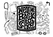 Back to school design. Vector illustration. Royalty Free Stock Photography