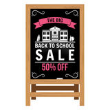 Back to School design. Wooden announcement board. Stock Photos