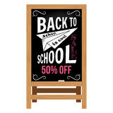 Back to School design. Wooden announcement board. Stock Images