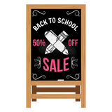 Back to School design. Wooden announcement board. Stock Photo
