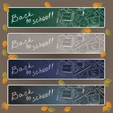 Back to school on desk with school supplies. Stock Image