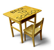 Back To School Desk Royalty Free Stock Image