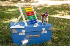 Back to school details Royalty Free Stock Photo
