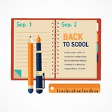 Back to school diary notebook Royalty Free Stock Images