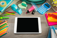 Back to school with digital tablet Stock Photos