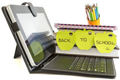 Back to school with digital tablet pc Stock Images
