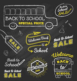 Back to school doodle chalk design Royalty Free Stock Photography