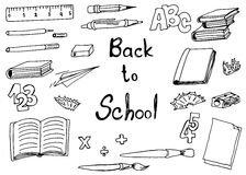 Back to school doodle Royalty Free Stock Image