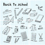 Back to school doodle drawing Stock Image