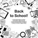 Back to school doodle frame royalty free illustration