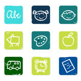 Back to school doodle icons set & elements. Stock Photography