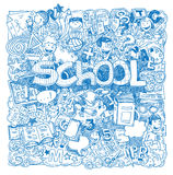 Back to school Doodle, icons, vector illustration Royalty Free Stock Images
