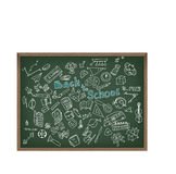 Back to school doodle  illustration. Chalk board Stock Photo