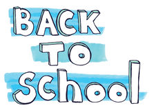 Back to school doodle lettering. Vector Stock Photos