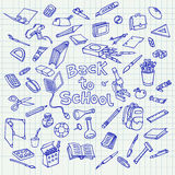 Back to school doodle Stock Photography