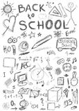 Back to school, doodle school symbols Royalty Free Stock Photos