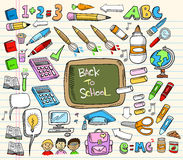 Back To School Doodle Set Stock Photo