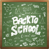 Back to school doodle style on black board background Stock Photo
