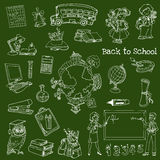 Back to School Doodles Stock Images