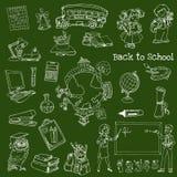 Back to School Doodles. Hand-Drawn Vector Illustration Design Elements Stock Images