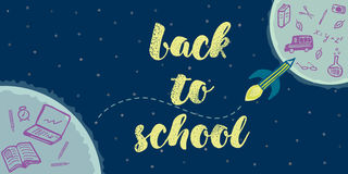 Back to school doodles background Stock Image
