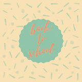 Back to school doodles background Royalty Free Stock Photo