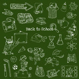 Back to School Doodles - Hand-Drawn. Vector Illustration Design Elements Royalty Free Stock Photography