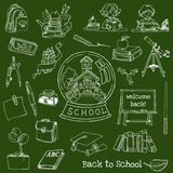 Back to School Doodles - Hand-Drawn. Vector Illustration Design Elements Stock Photo