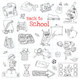 Back to School Doodles Stock Photography