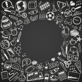 Back to school doodles Royalty Free Stock Images