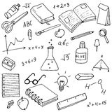 Back to school doodles vector set Royalty Free Stock Images