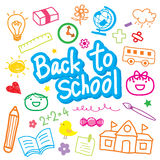 Back To School Draw Kid Cute Cartoon Vector Design Royalty Free Stock Images