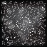 Back to school. Drawing with chalk Royalty Free Stock Photo