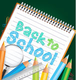 Back to school drawing in a paper Royalty Free Stock Images
