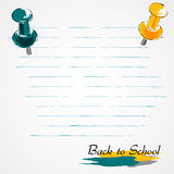 Back to school drawing pins Stock Image