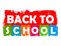 Back to school drawn label Stock Photography