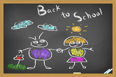 Back to school drew on blackboard Stock Images